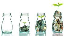 Impact investing money jars